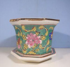 Vintage Jingdezhen Porcelain Flower Bonsai Pot Jardiniere