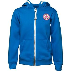 a5c66a7fc853bb CONVERSE All Star Girls Full Zip Hoody   Jacket Vision Blue 3-4 ...