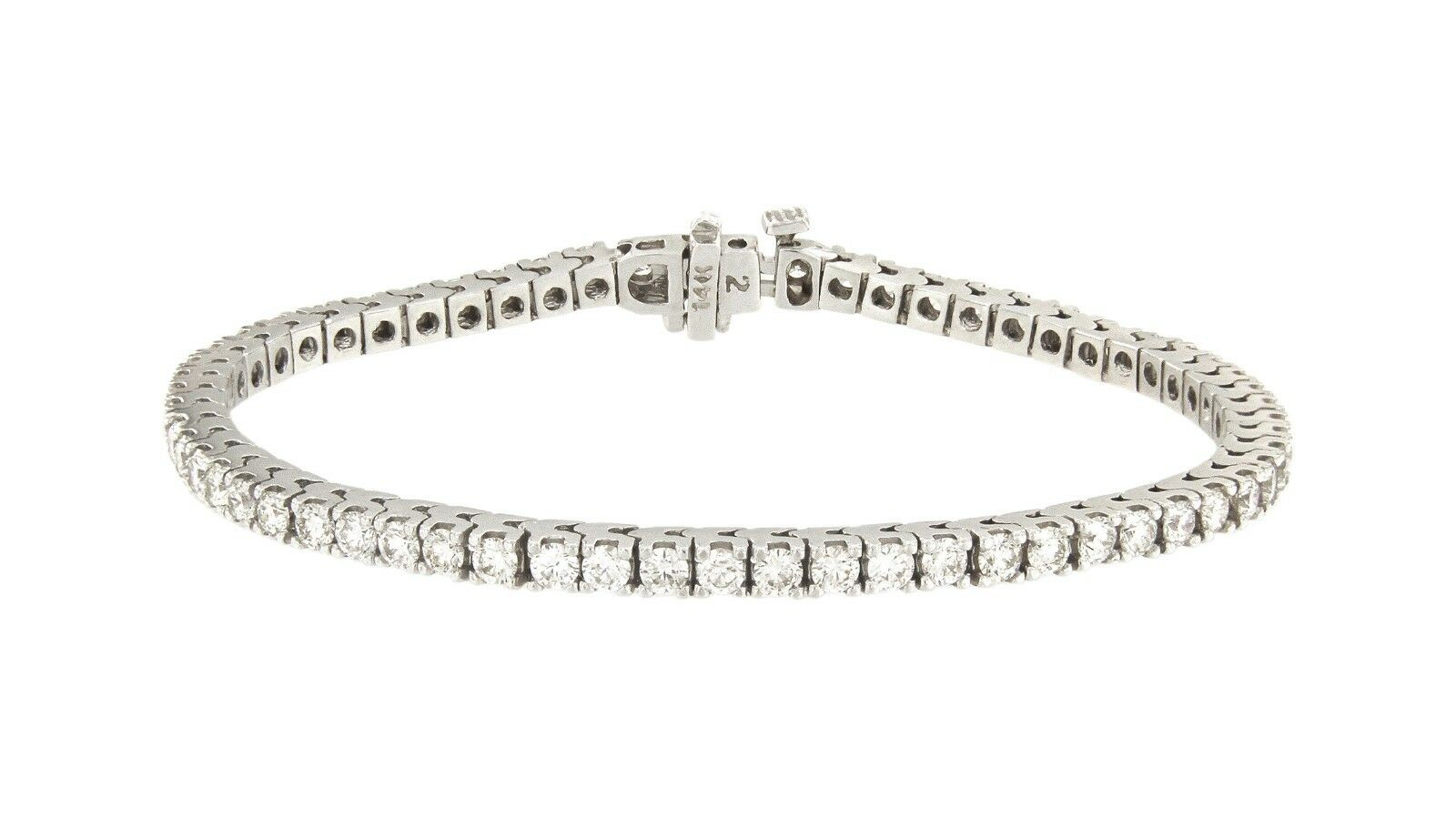 Exquisite White gold Diamond Bracelet