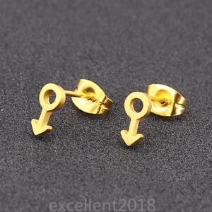 Gold lesbian earrings