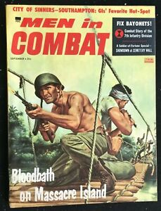 MEN-IN-COMBAT-Magazine-Sep-1957-Pulp-Adventure-Men-039-s-Interest