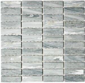 Détails sur Mosaïque Carreau Céramique Bâtonnets Pierre Optique Gris Mur  Sol salle de bain NATURE: 24-stso 23_b- afficher le titre d\'origine