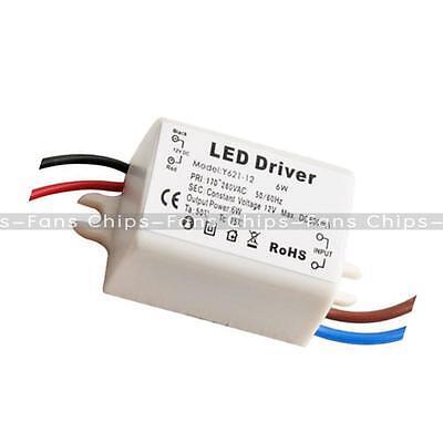 6W Wattage LED Driver Transformer 12V DC 500mA For 12V LED Bulbs MR16 MR11