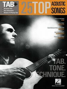 100% De Qualité 25 Top Acoustic Songs Tab Tone Technique Tab Guitar Recorded Version 000109283-afficher Le Titre D'origine Moins Cher