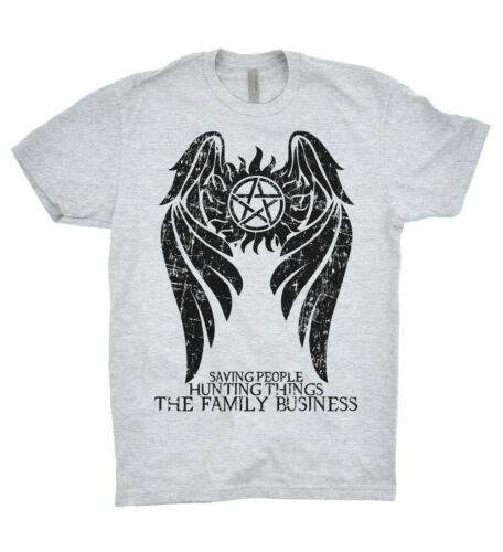 Supernatural T Shirt Winchester Brothers Hunters Team Sam Dean Bobby Family TV