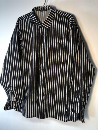 Men's Marimekko Jokapoika Shirt Black White Stripe