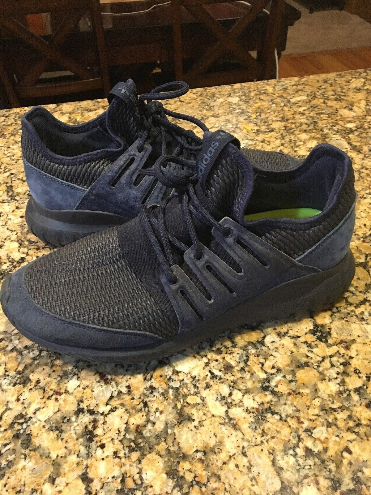 New ADIDAS Originals Tubular Radial Sneaker Mens navy Size 9