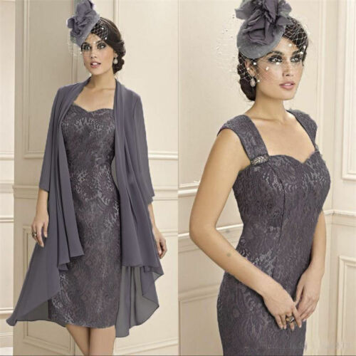 Formal Outfit Mother of the Bride Evening Dress /& free Chiffon Jacket Size 2-20