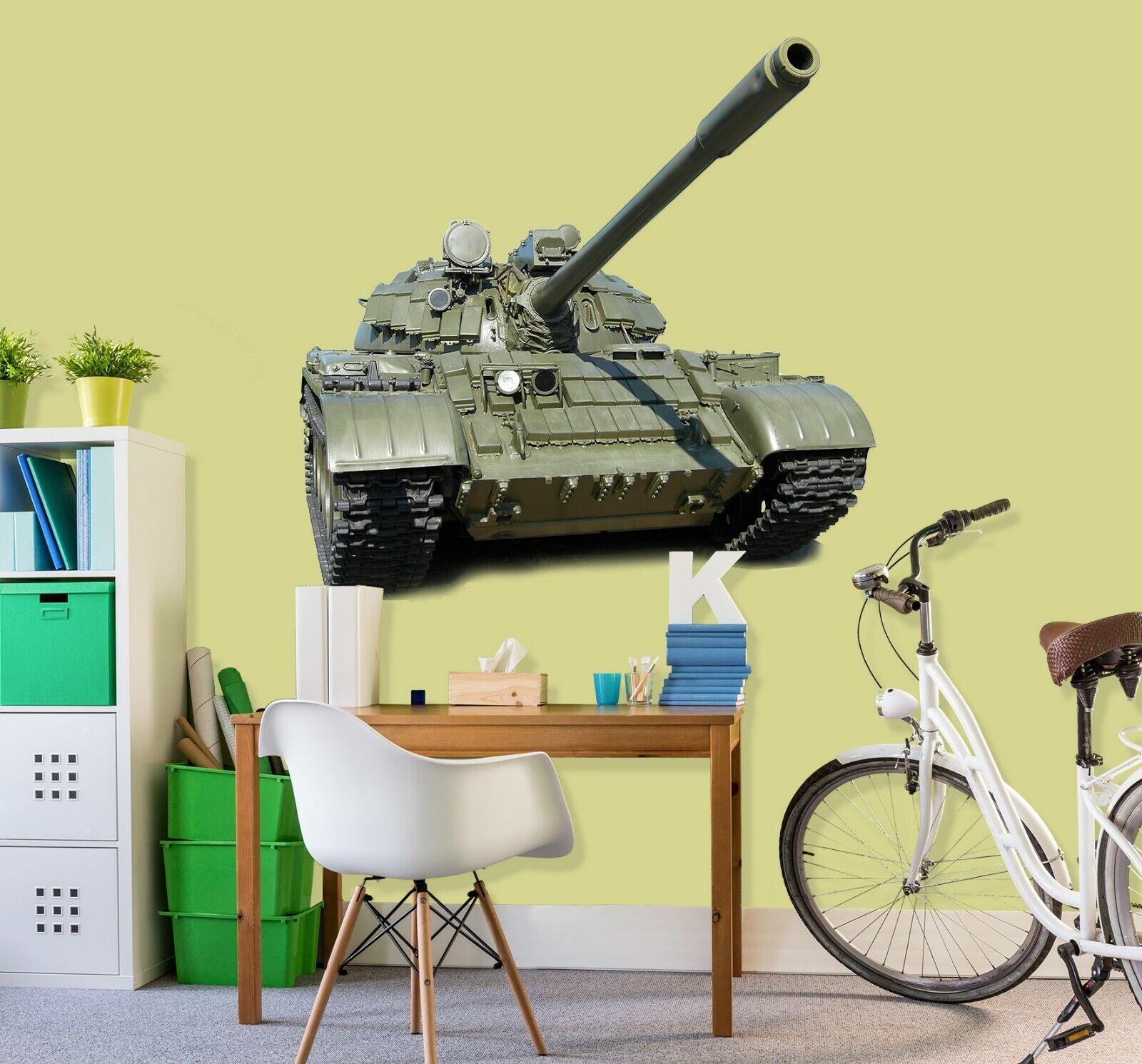 3D Tank Handsome G02 Car Wallpaper Mural Poster Transport Wall Stickers Wendy