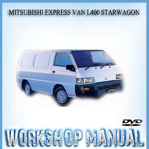 mitsubishi express van l400 starwagon repair service manual in disc rh ebay com au Mitsubishi 4x4 Van Mitsubishi 4x4 Van