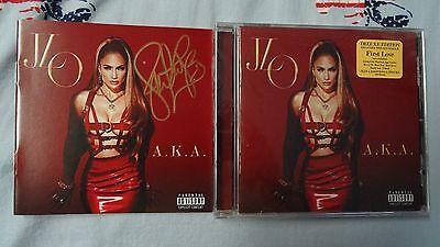 A.K.A CD FRAMED PRESENTATION PERSONALLY SIGNED//AUTOGRAPHED JENNIFER LOPEZ J LO