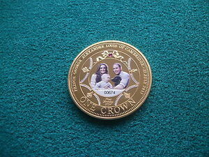 Crown-2014-George-1st-Birthday-TDC-GOLD-PLATED