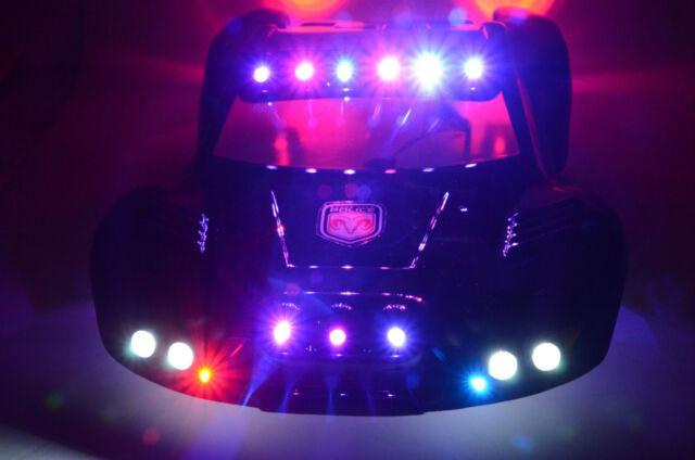 Police Led Lights >> For Traxxas Slash 4x4 2wd Rc10 Police Led Lights Cop Black 36 Body