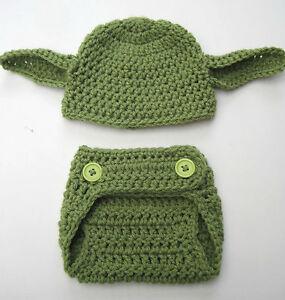Crochet baby yoda inspired photo prop