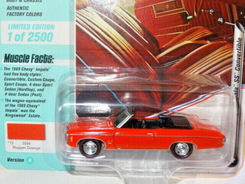 1969 /'69 CHEVY IMPALA SS CONV ORANGE V//A MUSCLE CARS USA JOHNNY LIGHTNING 2020