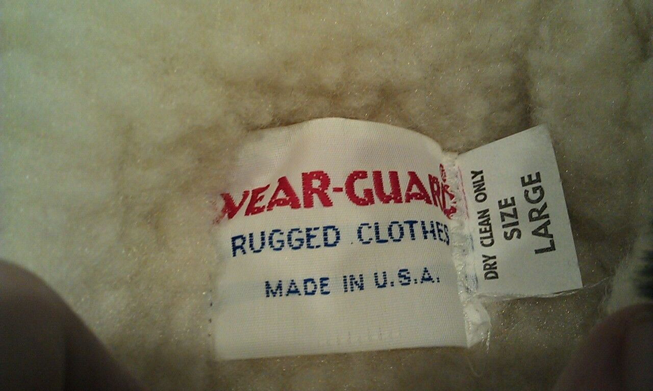RARE VTG NWT NWT NWT WEAR-GUARD USA Made Insulated Zip Up Coat Womens Large L bluee NICE  e520a7