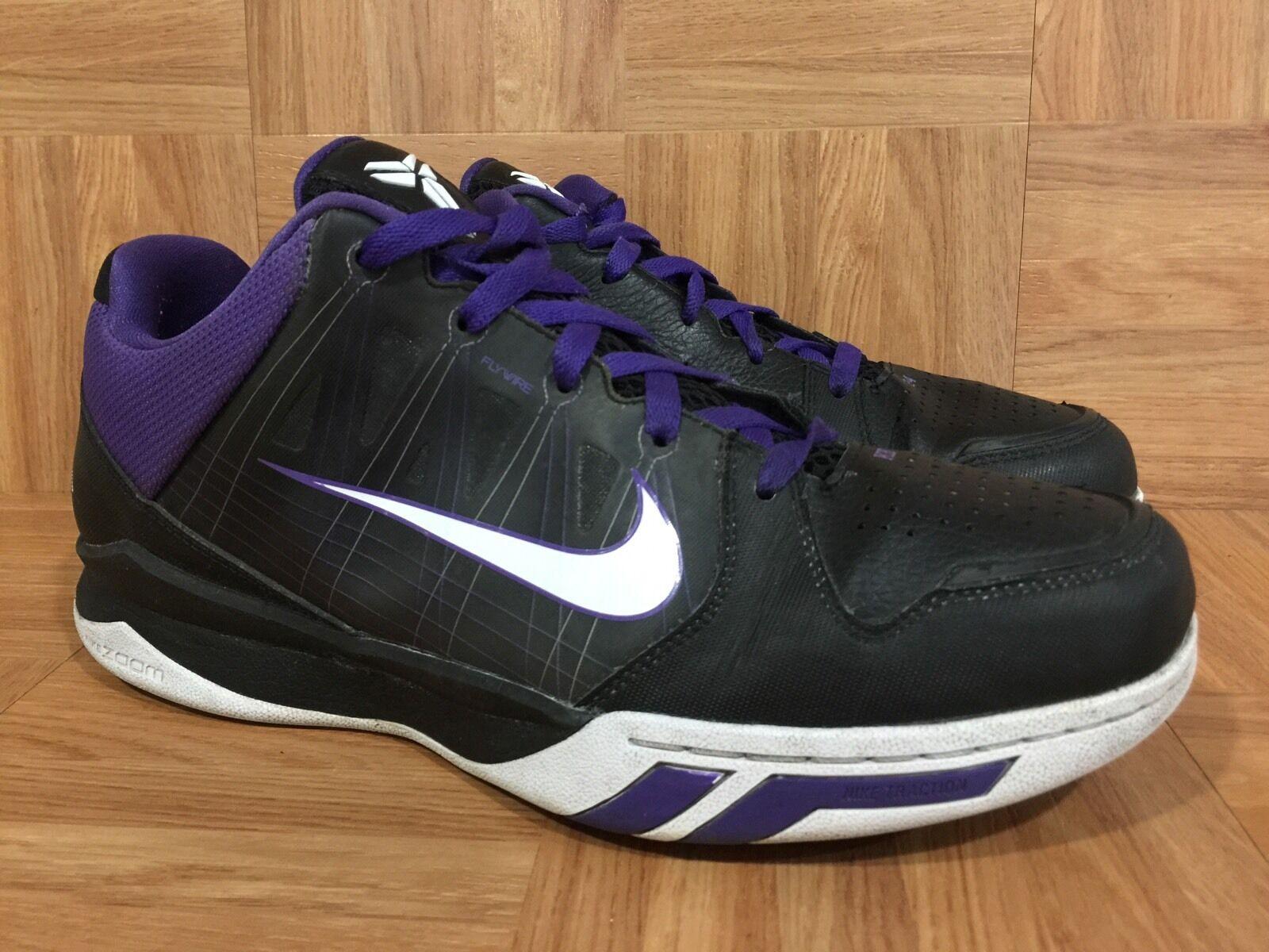 RARE Nike Kobe Dream Season II Black Leather Varsity Purple Sz 11 407624-101