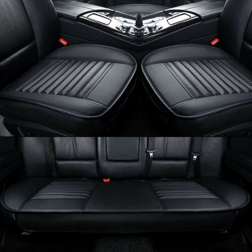 Full Set Breathable Car Front /& Rear Cushion Seat Cover Faux Leather Protector