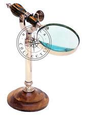 Adjustable Desk top Maginifir Antique Brass Magnifying Glass