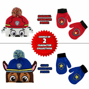 Nickelodeon Paw Patrol Toddler Boys Hat and Mitten Cold Weather Set