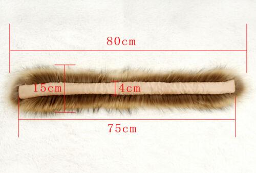 Frauen Flauschigen Real RACC00N Pelzkragen Best Coming Schal Schal Wrap 75cm