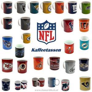 NFL-Football-Kaffeetasse-24-Teams-Fanartikel-Patriots-Packers-Broncos