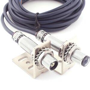 10-20M Laser Sensor Photoelectric Switch Infrared Visible light Sensor M12 NPN