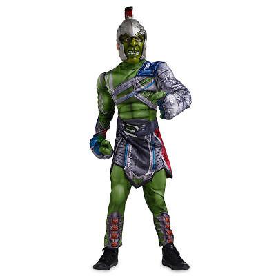 Disney Marvel Thor Ragnarok Dx INCREDIBLE HULK Costume Child 4 5-6 New w Gloves