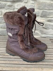 The North Face Nupste Goose Down Insulated Winter Snow Boots Womens Size 9.5