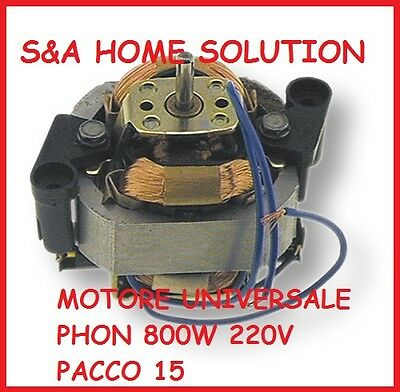 MOTOR COLLECTOR UNIVERSALE FOR HAIRDRYER PACK 15 220V 800W AST 00814151