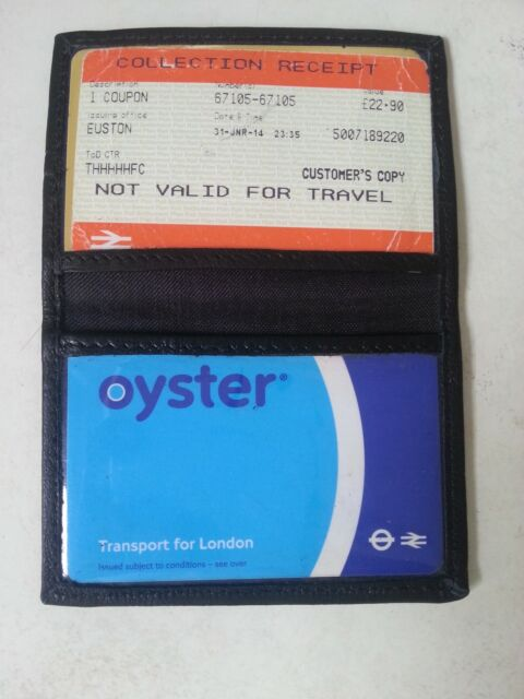 Soft Leather Bus Pass Oyster Credit Card Travel Wallet Holder Pouch FREE P/&P 235