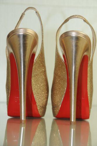 140 Christian Glitter Plateau Palais Nuovo Oro Doppio Reale Scarpe Louboutin Con a4R4q1