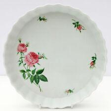 Vintage Christineholm Large Flan Quiche Dish Floral Pink Roses