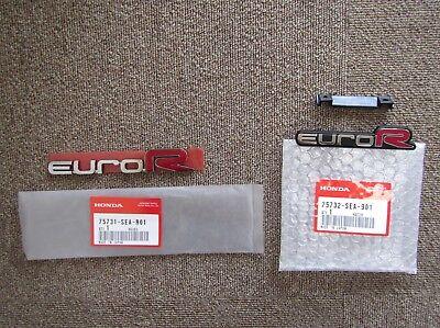 JDM Acura TSX Honda Accord Euro R Emblem SET 75731-SEA-R01 75732-SEA-901 OEM