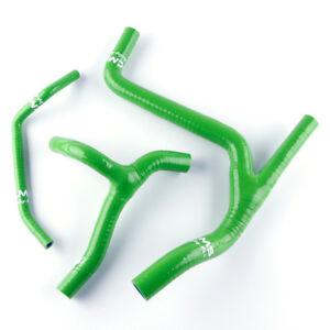 Silicone Radiator Hose Kit For KAWASAKI KXF450 KX450F 09-11 GREEN