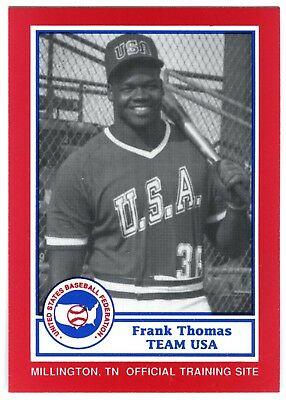 FRANK THOMAS~1987 TEAM USA BASEBALL PAN-AM NATIONAL~RARE 1990 BDK ROOKIE CARD#23