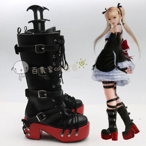 Dead or Alive 5 Marie Rose Cosplay Shoes Boots Cos Shoes