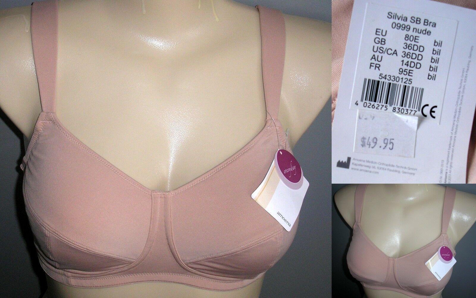 e9b70f06b51 Amoena Silvia Wirefree Bra - Nude 10b | eBay