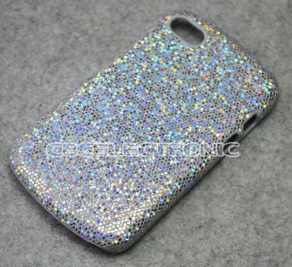 New Silver Bling Glister hard case cover for Blackberry Q10