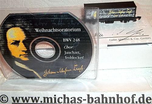 Johann Sebastian Bach Container Load Car and CD Bwv 248 Märklin 8615 Z Gauge