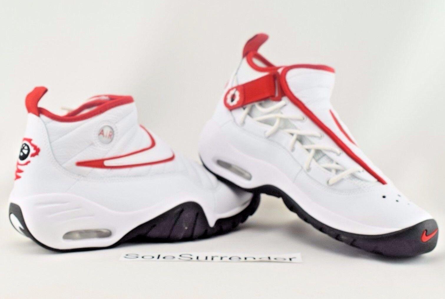 Nike Air Shake Ndestrukt - SIZE 8.5 - 880869-100 Red Dennis Rodman Black Retro