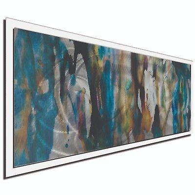 Abstract Wall Art Urban Splatter Decor Modern Earth Tones on Metal or Plexiglass
