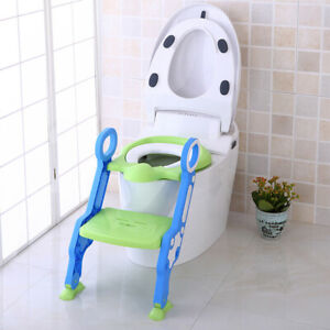 Baby-Child-Potty-Toilet-Trainer-Seat-Step-Stool-Ladder-Adjustable-Training-Chair