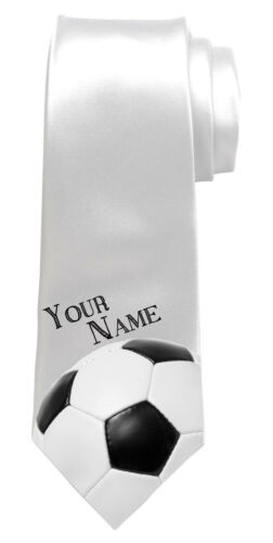 FOOTBALL PERSONALISED MEN'S NECK TIE *ANY NAME/TEXT * GREAT GIFT FOR ANY MAN *