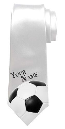 texte grand cadeau pour tout homme * FOOTBALL Personnalisé Hommes Cravate n/'importe quel nom