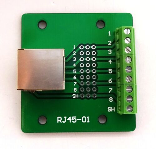 RJ-45 Jack Connettore breakout board Adattatore Ethernet 8P8C SINGLE