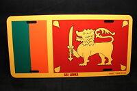Sri Lanka Flag Metal Novelty License Plate Tag For Cars