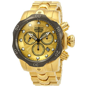 Invicta Venom Chronograph Gold Dial Mens Watch 23894