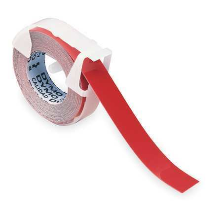 """DYMO 520102 3//8/"""" x 12 ft Adhesive Label Tape Roll Red"""