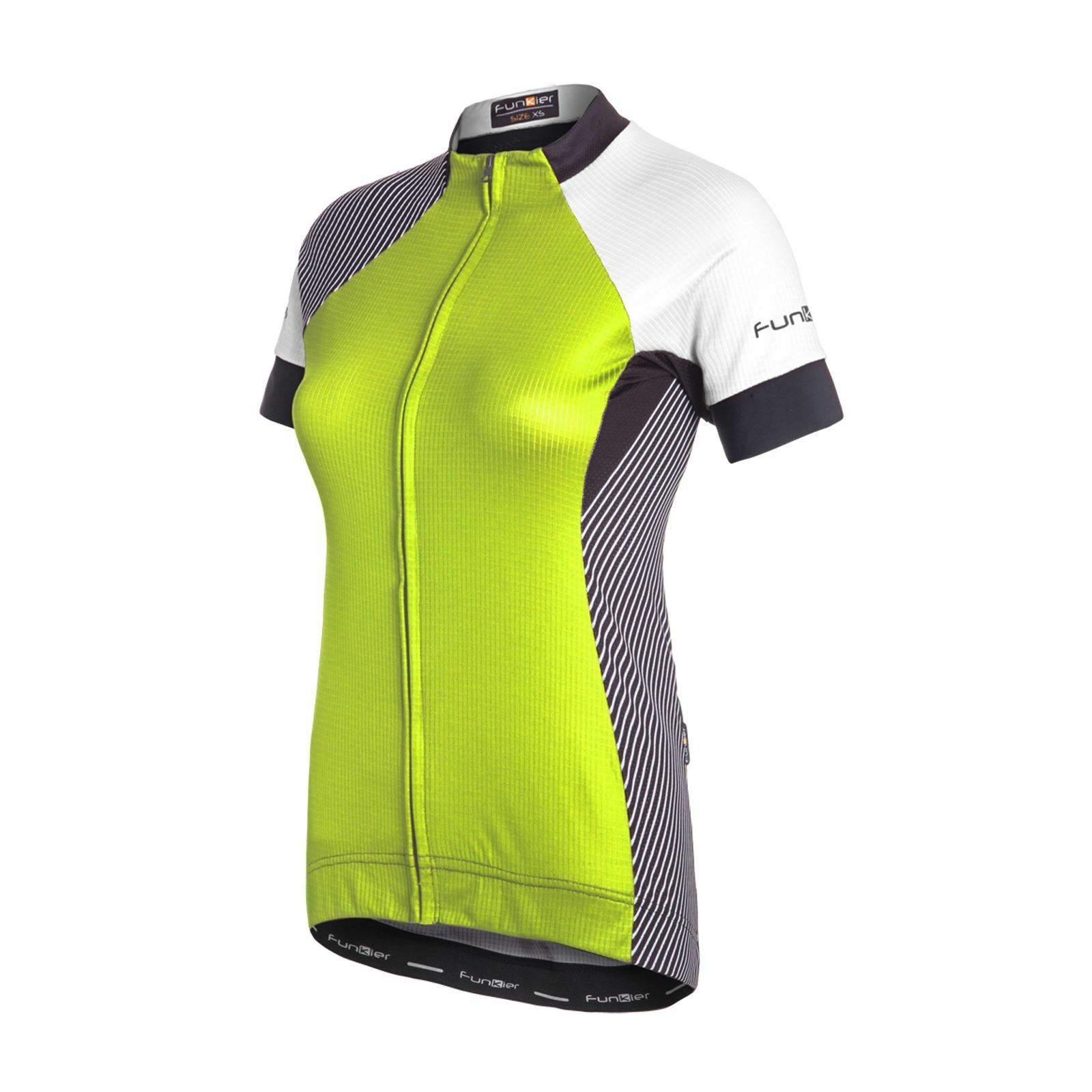 Funkier Mataro Pro Ladies Rider Short  Sleeve Jersey Racer Cut Neon Yellow Medium  there are more brands of high-quality goods
